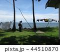 フィジー 観光 ビセイセイ村の風景 海 洗濯物 44510870
