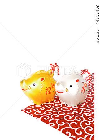 年賀状 亥年 亥 猪 イノシシ いのしし 44512493