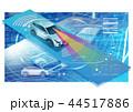 自動車 センサー ドライブサポートのイラスト 44517886