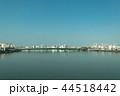 東海道山陽新幹線の車窓から見る神崎川と神崎橋、十三筋 44518442