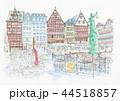 ヨーロッパの街並み・ドイツ・フランクフルト旧市街 44518857