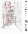 世界遺産の街並み・イタリア・シエナの路地 44519491