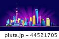 Shanghai Neon City 44521705