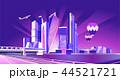 ネオン モスクワ 都市のイラスト 44521721