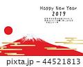 富士山 赤富士 年賀状のイラスト 44521813