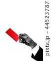 レッドカードを出すビジネスマン 44523787