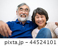 シニア 夫婦 家族 寄り添う 高齢者 44524101