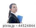 横顔 ファイルを持った笑顔のビジネスウーマン 44524844