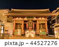 雷門 夜 浅草寺の写真 44527276