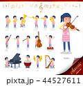 女性 保育士 楽器のイラスト 44527611