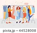 女性 メス 洋服のイラスト 44528008
