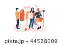 買い物客 人々 人物のイラスト 44528009
