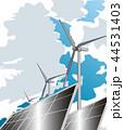 再生可能エネルギー 太陽光発電 風力発電のイラスト 44531403