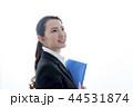 横顔 ファイルを持った笑顔のビジネスウーマン 44531874