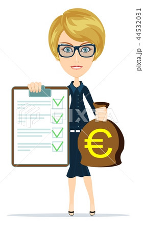 Woman in suit insurance and money. 44532031