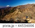 丹沢・三ノ塔のハイカーと富士山 44534006