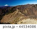 丹沢表尾根・三ノ塔から見る富士山と塔ノ岳 44534086
