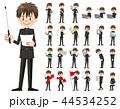 男子 セット バリエーションのイラスト 44534252