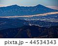 丹沢表尾根・三ノ塔から見る愛鷹山と御殿場市街 44534343