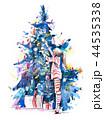 子供 xマス クリスマスのイラスト 44535338