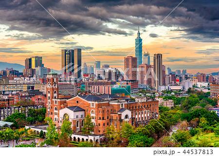 Taipei, Taiwan Cityscape at Dusk 44537813