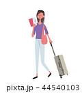 ハワイ 海外旅行 女性 イラスト 44540103