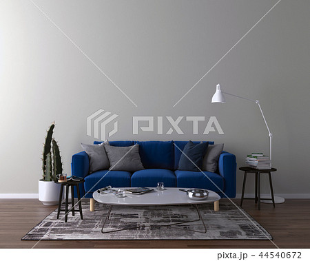 Living room interior - empty wall background 44540672