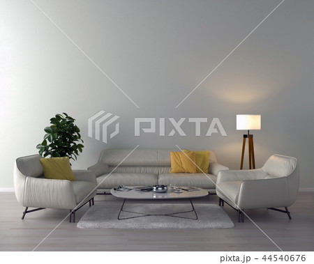 Living room interior - empty wall background 44540676
