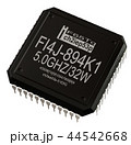 Integrated circuit of digital microprocessor in computer parts. Isolated. 44542668