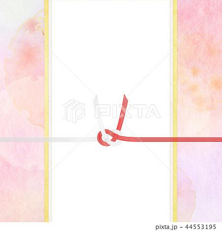 和-和風-和柄-背景-和紙-春-桜-ピンク-水引-のし 44553195