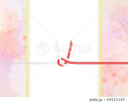 和-和風-和柄-背景-和紙-春-桜-ピンク-水引-のし 44553197