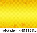 市松模様とモミジのテクスチャ 44553961