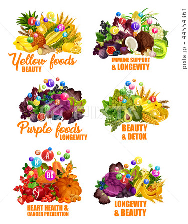 Fruits and vegetables, color diet vitamins 44554361