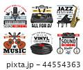 音楽 楽器 ミュージカルのイラスト 44554363