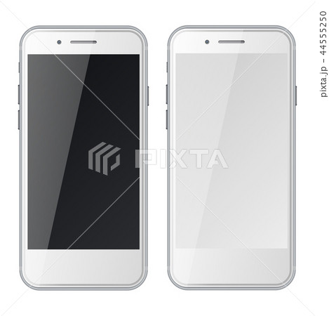 Smart phones with black and blank screens 44555250