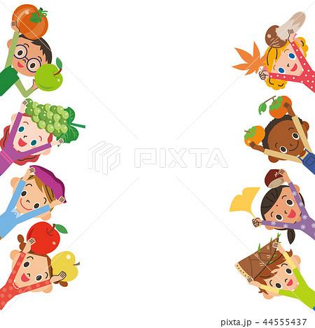 食材の収穫 子供達 上半身 44555437
