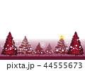 クリスマス クリスマスカード 赤のイラスト 44555673