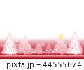 クリスマス クリスマスカード 赤のイラスト 44555674