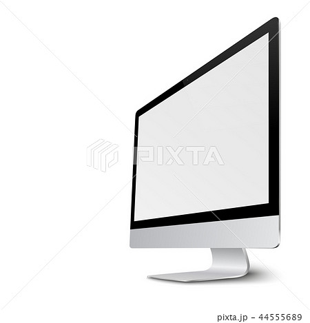 Modern computer monitor display with blank screen. 44555689