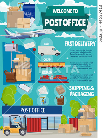 Post office, mail transportation, shipping 44557413
