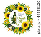 Natural oil and ingredients, vector 44558120