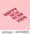 Isometric element of happy new year 2019 44559855