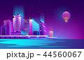都市 夜 ネオンのイラスト 44560067