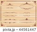 decorative gold frame set Vector 44561447