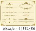 decorative gold frame set Vector 44561450