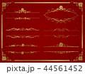 decorative gold frame set Vector 44561452
