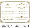 decorative gold frame set Vector 44561454