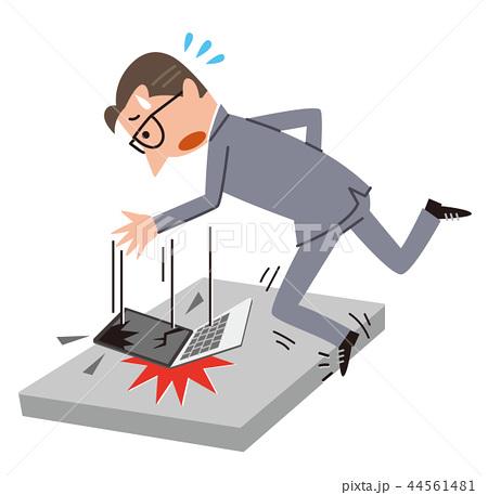パソコンを落として破損 44561481