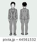 モノクロ スーツ 就職活動のイラスト 44561532