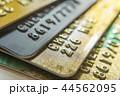 Gold and platinum credit cards close up 44562095